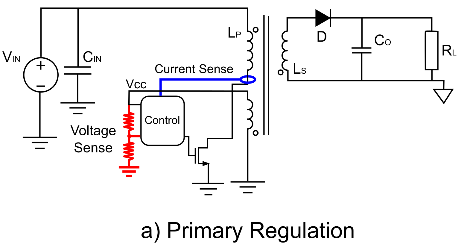 Primary-Side Regulation Circuit Schematic
