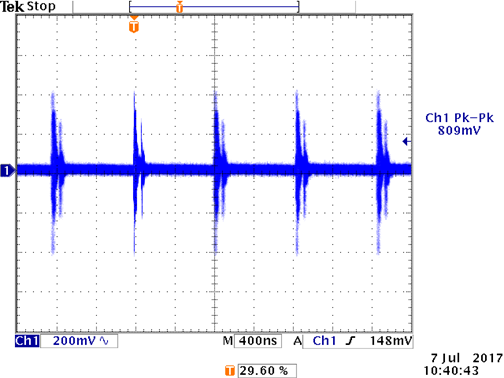 a) Output Ripple Based on Ten 1MΩ Passive Probes
