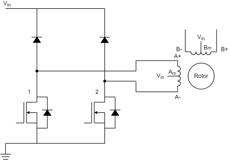 Unipolar Stepper Motor driving circuit