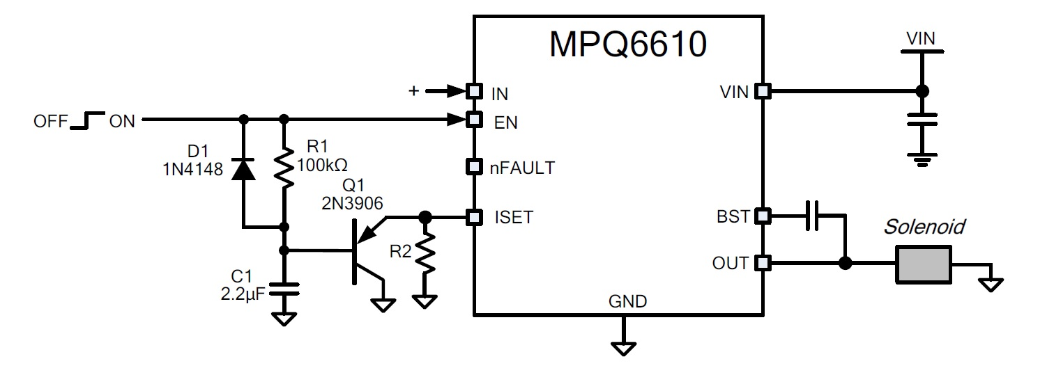 Article High Performance Solenoid Drives Basic Circuit Supplies Steppermotor Timing Electromechanical Figure 5 Mpq6610 Reduced Hold Current