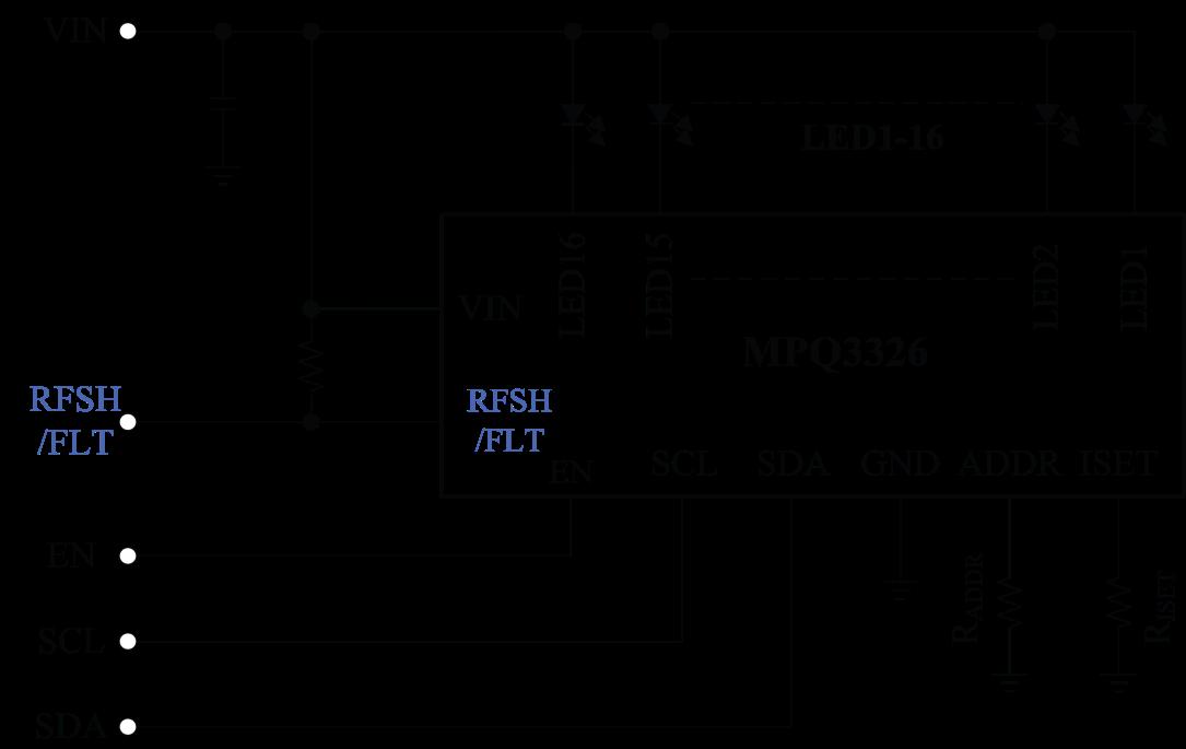 MPQ3326 Automotive LED Driver Schematic