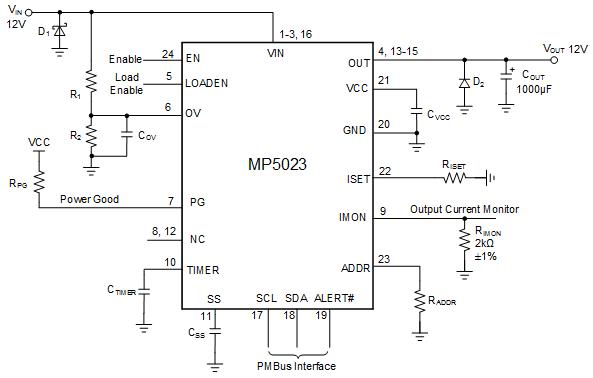 Typical Application Circuit of the MP5023
