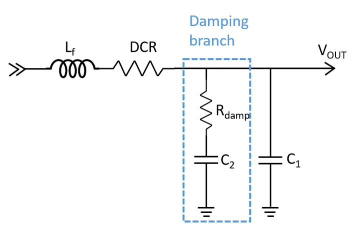 Figure 5: Second-Stage LC Filter with Parallel Damping Branch
