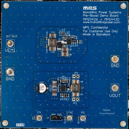 MPS Pre-Boost Reference Design Board