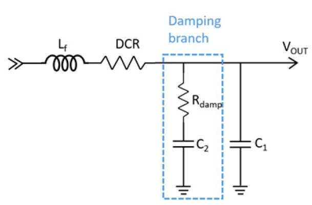 Figure 5. Second Stage LC Filter with Parallel Damping Branch